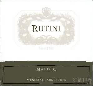 露迪尼资讯马尔贝克干红葡萄酒(Rutini Wines La Consulta Malbec,Mendoza,Argentina)