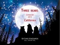 感恩酒庄三只熊仙粉黛干红葡萄酒(Ektimo Vineyards Three Bears Zinfandel, California, USA)