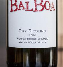 巴波亚胡椒桥园雷司令干白葡萄酒(Balboa Winery Pepper Bridge Vineyard Dry Riesling,Walla ...)