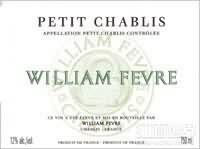 威廉•费尔小夏布利干白葡萄酒(Domaine William Fevre, Petit Chablis, France)