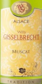 威利·布哈奇酒庄麝香干白葡萄酒(Willy Gisselbrecht Muscat,Alsace,France)