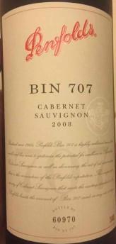 奔富Bin 707赤霞珠干红葡萄酒(Penfolds Bin 707 Cabernet Sauvignon, South Australia, Australia)