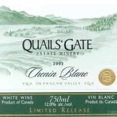 魅尔斯堡白诗南干白葡萄酒(Quails'Gate Chenin Blanc,Okanagan Valley,Canada)