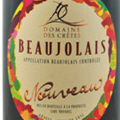 克雷斯酒庄博若莱新酒(Domaine des Cretes Beaujolais Nouveau,Beaujolais,France)