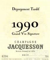 雅克森列级园太史慈除渣干型香槟(Jacquesson Grand Vin Signature Degorgement Tardif Brut,...)