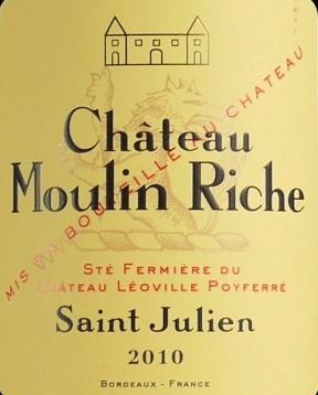 慕林丽榭堡干红葡萄酒(Chateau Moulin-Riche, Saint-Julien, France)