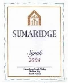 Sumaridge Syrah,Walker Bay,South Africa