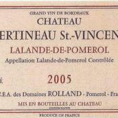 圣文森特酒庄干红葡萄酒(Chateau Bertineau Saint-Vincent, Lalande De Pomerol, France)