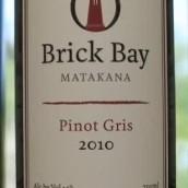 布里克湾灰皮诺干白葡萄酒(Brick Bay Pinot Gris,Matakana,New Zealand)