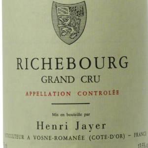 亨利·贾伊(李奇堡特级园)黑皮诺干红葡萄酒(Henri Jayer Richebourg Grand Cru,Cote de Nuits,France)