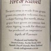 奥玛特拉塞尔波特干红葡萄酒(Omata Estate Port of Russel, Russell, New Zealand)