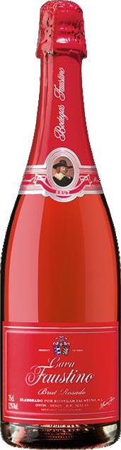 福斯蒂诺天然桃红卡瓦起泡酒(Bodegas Faustino Cava Brut Rosado,Rioja DOCa,Spain)