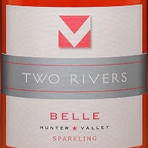 澳洲双河贝儿桃红葡萄起泡酒(Two Rivers Wines Belle Sparkling,Hunter Valley,Australia)