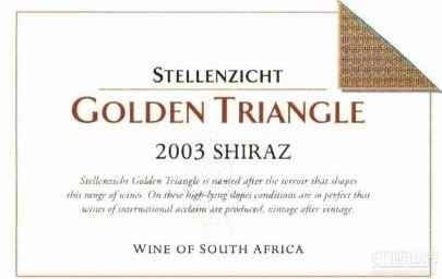思坦伦金三角西拉干红葡萄酒(Stellenzicht Golden Triangle Shiraz,Stellenbosch,South ...)