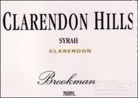 克拉伦敦山布鲁克蒙园西拉干红葡萄酒(Clarendon Hills Brookman Vineyard Syrah, Clarendon, Australia)