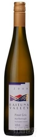 凯图纳酒庄阿瓦蒂园灰皮诺干白葡萄酒(Kaituna Valley Awatere Vineyard Pinot Gris,Marlborough,New ...)