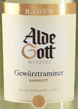 阿尔德·戈特琼瑶浆小房白葡萄酒(Alde Gott Gewurztraminer Kabinett,Baden,Germany)