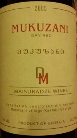迈苏凉干红葡萄酒(Maisuradze Mukuzani Dry Red,Kakheti,Georgia)