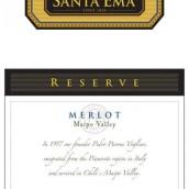 圣艾玛珍藏梅洛干红葡萄酒(Santa Ema Reserve Merlot,Maipo Valley,Chile)