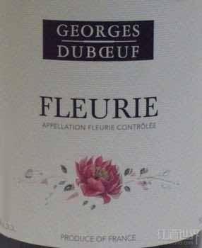 杜宝夫福乐里干红葡萄酒(Georges Duboeuf Fleurie,Beaujolais,France)