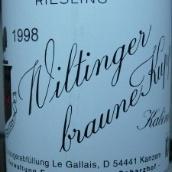 伊贡米勒威廷格雷司令逐粒精选甜白葡萄酒(Egon Muller - Scharzhof Wiltingen Braune Kupp Riesling Beerenauslese, Mosel, Germany)