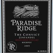 天堂桥囚犯落基山脉园仙粉黛干红葡萄酒(Paradise Ridge The Convict Rocky Ridge Vineyard Zinfandel,...)