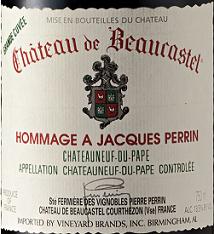 博卡斯特尔酒庄向佩兰致敬干红葡萄酒(Chateau de Beaucastel Hommage a Jacques Perrin,Chateauneuf-...)