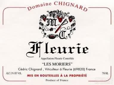 Domaine Michel Chignard Fleurie Les Moriers,Beaujolais,...