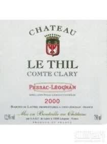 Chateau Le Thil Comte Clary Blanc,Pessac Leognan,France