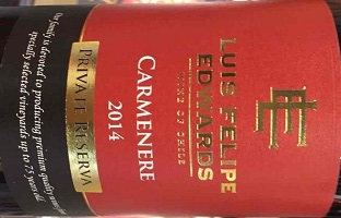 埃德华兹佳美娜干红葡萄酒(Luis Felipe Edwards Carmenere,Colchagua Valley,Chile)