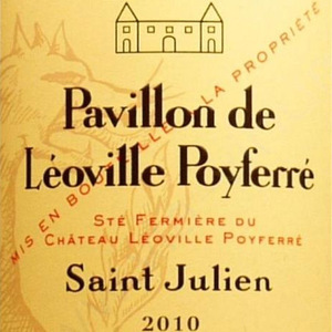 乐夫波菲庄园副牌干红葡萄酒(Chateau Leoville-Poyferre Pavillon de Leoville Poyferre, Saint-Julien, France)