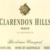 克拉伦敦山布鲁克蒙园梅洛干红葡萄酒(Clarendon Hills Brookman Vineyard Merlot, Clarendon, Australia)