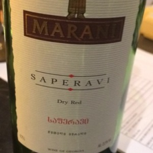 玛琅尼酒庄晚红蜜干红葡萄酒(Marani Saperavi,Kakheti,Georgia)
