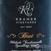 克雷默酒庄极干型混酿起泡酒(Kramer Vineyards Brut Sparkling, Yamhill-Carlton District, U.S.A.)