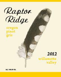 恐龙岭灰皮诺干白葡萄酒(Raptor Ridge Pinot Gris,Willamette Valley,USA)