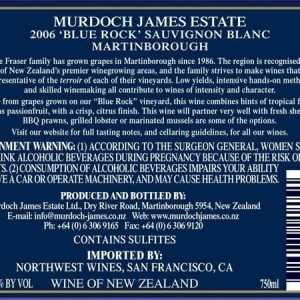 Murdoch James Estate 'Blue Rock' Sauvignon Blanc,...