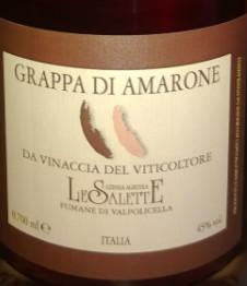 萨莱特酒庄阿玛罗尼蒸馏酒(Le Salette Grappa di Amarone,Veneto,Italy)