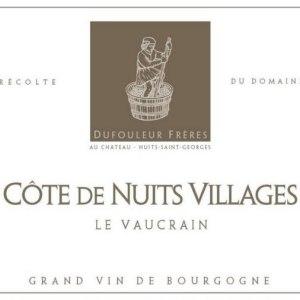 杜福尔兄弟酒庄维克(夜丘村)干红葡萄酒(Maison Dufouleur Freres Le Vaucrain, Cote de Nuits Villages, France)