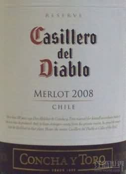 干露红魔鬼珍藏梅洛干红葡萄酒(Concha y Toro Casillero del Diablo Reserva Merlot, Rapel Valley, Chile)