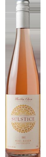 玛莎·克莱拉北方至点桃红葡萄酒(Martha Clara Vineyards Northern Solstice Rose,North Fork of ...)