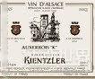 安德列肯恩勒欧塞瓦干白葡萄酒(Domaine Andre Kientzler Auxerrois K,Alsace,France)
