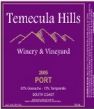 泰梅库拉波特风格加强酒(Temecula Hills Winery Port,Temecula Valley,USA)
