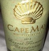 五月角霞多丽干白葡萄酒(橡木桶发酵)(Cape May Barrel Fermented Chardonnay, New Jersey, USA)