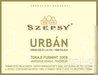 伊斯特万塞普西厄本干白葡萄酒(Istvan Szepsy Urban,Tokaj,Hungary)