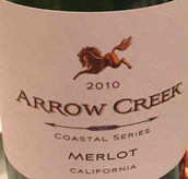 克里克箭牌海岸系列梅洛干红葡萄酒(Arrow Creek Coastal Series Merlot,California,USA)