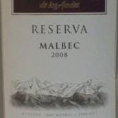 安第斯台阶珍藏马尔贝克干红葡萄酒(Terrazas de los Andes Reserva Malbec,Mendoza,Argentina)