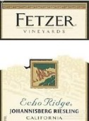 菲泽回音山园雷司令干白葡萄酒(Fetzer Vineyards Echo Ridge Riesling,California,USA)