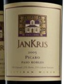 简瑞斯皮卡诺干红葡萄酒(Jankris Estate Picaro,Paso Robles,USA)