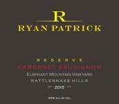 瑞安帕特里克大象山园珍藏赤霞珠干红葡萄酒(Ryan Patrick Elephant Mountain Vineyard Reserve Cabernet Sauvignon, Rattlesnake Hills, USA)