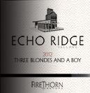 回声岭酒庄三个金发女郎与一个男孩干红葡萄酒(Echo Ridge Cellars Three Blondes and a Boy,Columbia Valley,...)